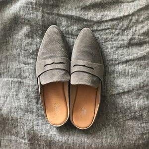 Eden Mule in Grey Suede